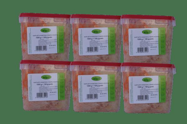 Kapusta kiszona z marchewką 1kg